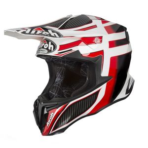Casque cross TWIST -  SHADING - RED GLOSS 2019 Rouge/Noir