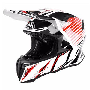 Casque cross TWIST -  STRANGE  - RED 2018 Blanc/Rouge