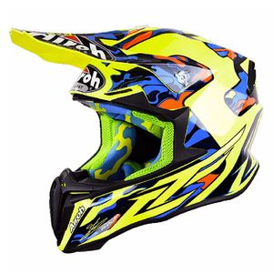 Casque cross TWIST - TC16 2018 Jaune/Multicolore