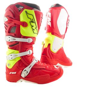 Bottes Cross Fm Racing Typhoon Ii Red / Yellow 2018