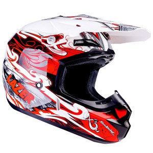 Casque cross X7 SKELTER 2017 Blanc/Rouge