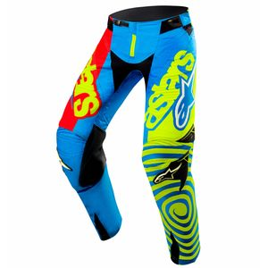 Pantalon Cross Alpinestars Techstar Venom - Edition Limitée Union - Bleu Jaune Fluo Rouge - 2017