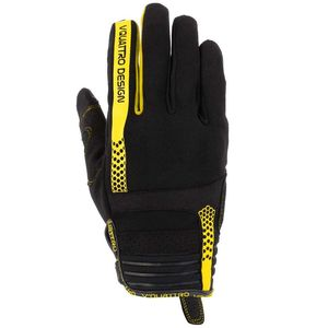 Gants Cross V Quattro Rush 18 Black/yellow