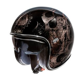 Casque VINTAGE - BD - CHROMED  Noir