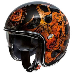 Casque VINTAGE - BD - CHROMED  Orange