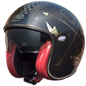 Casque Premier Vintage - Carbon Nx - Gold Chrome