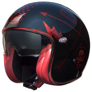 Casque VINTAGE - NX - CHROMED  Rouge