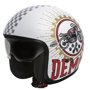 Casque VINTAGE - SPEED DEMON  Blanc