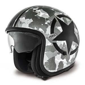 Casque VINTAGE - CAMOUFLAGE SILVER  Camouflage