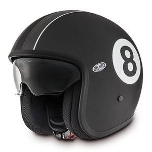 Casque VINTAGE - EIGHT  Noir mat
