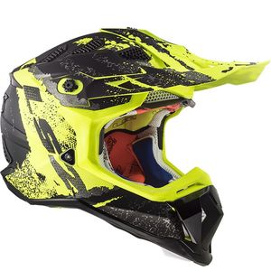 Casque cross MX470 - SUBVERTER - CLAW MATT BLACK H-V YELLOW 2019 Matt Black H-V Yellow