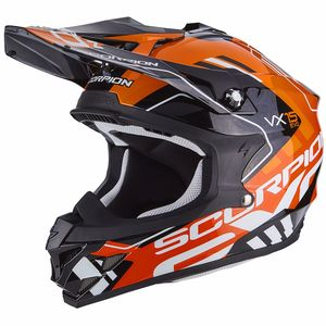 Casque cross VX-15 EVO AIR - ARGO BLACK ORANGE 2018 Noir/Orange