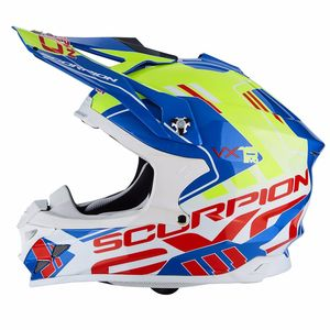 Casque Cross Scorpion Exo Vx-15 Evo Air - Argo Blue Neon Yellow 2018