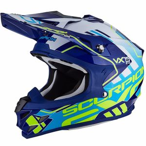Casque Cross Scorpion Exo Vx-15 Evo Air - Argo Blue White 2018