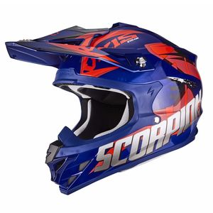 Casque Cross Scorpion Exo Vx-15 Evo Air - Defender - Blue Red 2018