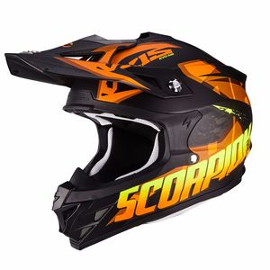 Casque Cross Scorpion Exo Vx-15 Evo Air - Defender - Matt Black Orange 2018
