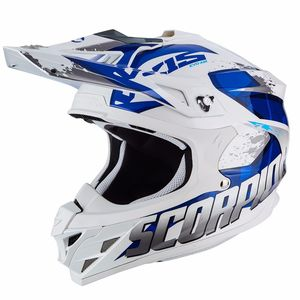 Casque cross VX-15 EVO AIR - DEFENDER - WHITE BLUE 2018 Blanc/Bleu