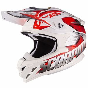 Casque cross VX-15 EVO AIR - DEFENDER - WHITE RED 2018 Blanc/Rouge