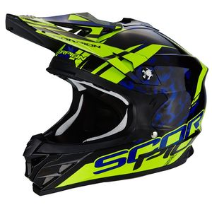 Casque Cross Scorpion Exo Vx-15 Evo Air - Kistune Black - Blue - Neaon Yellow 2018