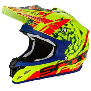 Casque Cross Scorpion Exo Vx-15 Evo Air - Kistune Neon Yellow - Red 2018