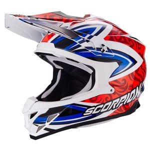 Casque cross VX-15 EVO AIR - REVENGE WHITE - RED - BLUE 2018 Blanc/Rouge/Bleu