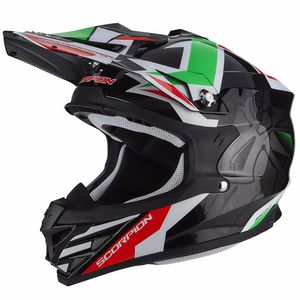 Casque Cross Scorpion Exo Vx-15 Evo Air - Robot - Black Green 2018