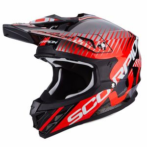 Casque Cross Scorpion Exo Vx-15 Evo Air - Sin Black - Neon Red 2018