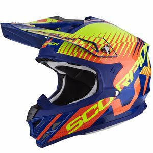 Casque Cross Scorpion Exo Vx-15 Evo Air - Sin Blue Orange 2018