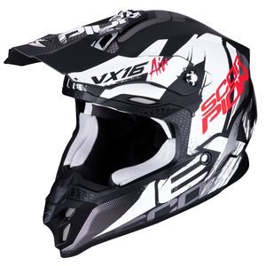 Casque cross VX-16 AIR - ALBION - MATT BLACK WHITE 2019 Matt Black White