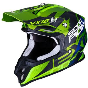 Casque cross VX-16 AIR - ALBION - MATT GREEN BLACK 2019 Matt Green Black