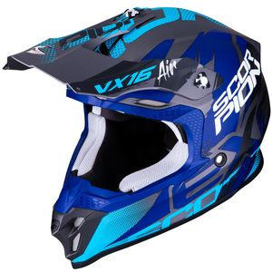 Casque cross VX-16 AIR - ALBION - MATT SILVER BLUE 2019 Matt Silver Blue