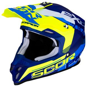 Casque cross VX-16 AIR - ARHUS - MATT BLUE NEON YELLOW 2019 Matt Blue Neon Yellow