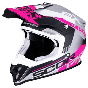Casque cross VX-16 AIR - ARHUS - MATT SILVER BLACK PINK 2019 Matt Silver Black Pink