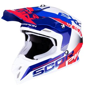 Casque cross VX-16 AIR - ARHUS - PEARL WHITE BLUE NEON RED 2019 Pearl White Blue Neon Red