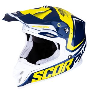 Casque cross VX-16 AIR - ERNEE - BLUE YELLOW WHITE 2019 Blue Yellow White
