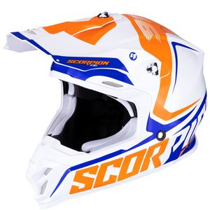 Casque cross VX-16 AIR - ERNEE - PEARL WHITE ORANGE BLUE 2019 Pearl White Orange Blue