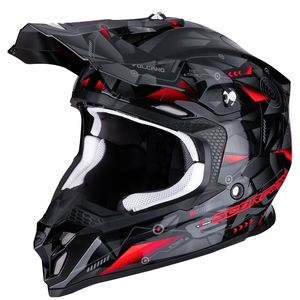 Casque cross VX-16 AIR - PUNCH - BLACK SILVER RED 2019 Black Silver Red