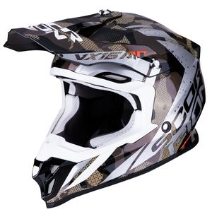 Casque cross VX-16 AIR - WAKA - BLACK SILVER 2019 Black Silver