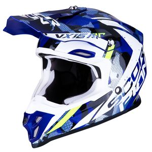 Casque cross VX-16 AIR - WAKA - BLACK WHITE BLUE 2019 Black White Blue