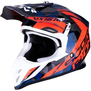 Casque cross VX-16 AIR - WAKA - SILVER RED BLUE 2019 Silver Red Blue