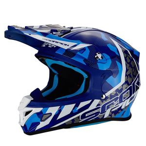Casque Cross Scorpion Exo Vx-21 Air - Furio - Black Sky Blue 2018