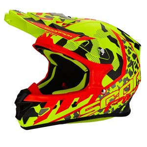 Casque Cross Scorpion Exo Vx-21 Air - Furio - Neon Yellow Black Red 2018
