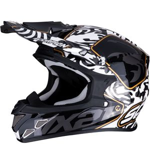 Casque cross VX-21 AIR - GNARLY 2020 Noir/Blanc