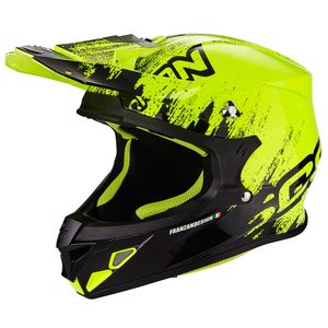 Casque cross VX-21 AIR - MUDIRT - BLACK NEON YELLOW 2019 Noir/Jaune