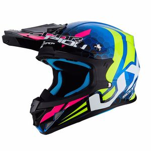 Casque cross VX-21 AIR - XAGON BLUE-NEON YELLOW 2019 Blue - Neon Yellow