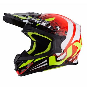 Casque cross VX-21 AIR - XAGON 2019 Neon Red - Black