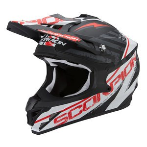 Casque Cross Scorpion Exo Vx-15 Evo Air - Gamma Noir Blanc Rouge 2017