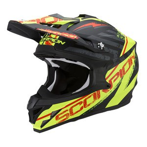 Casque Cross Scorpion Exo Vx-15 Evo Air - Gamma Noir Jaune Fluo 2017