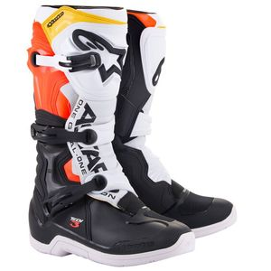 Bottes cross TECH 3 - BLACK WHITE RED FLUO YELLOW 2021 Black White Red Fluo Yellow