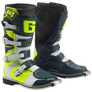 Bottes cross SG.J  WHITE/YELLOW/GREY  Blanc/Jaune/Gris